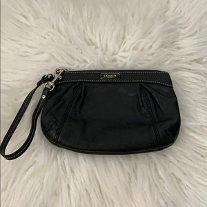 Small Black Coach wristlet.